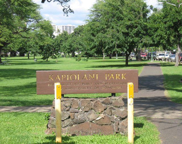Kapiolani Park oahu hawaii beach honolulu