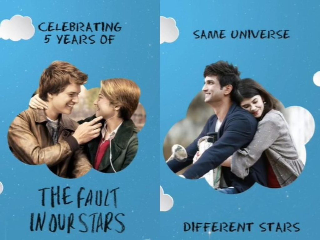 dil bechara Sanjana sanghi the fault in our stars