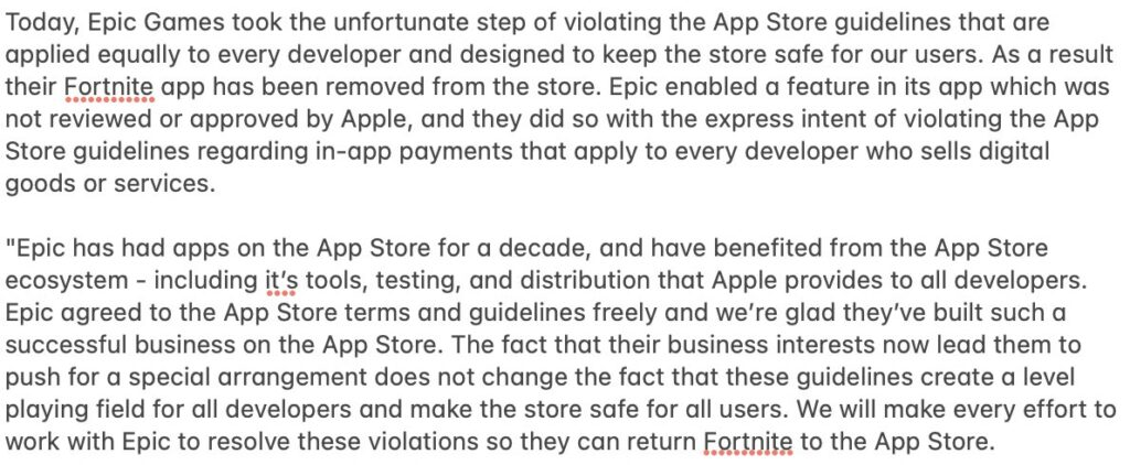 apple epicgames fortnite