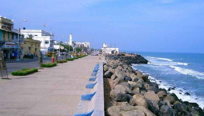 pondicherry tourism hotel rock beach
