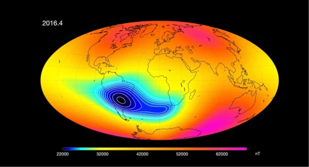 pole reversal earths magnetic field