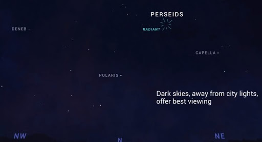 Perseid meteor shower india 2020 constellation