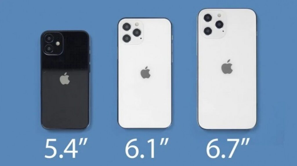 iphone 12 various size and dimensions