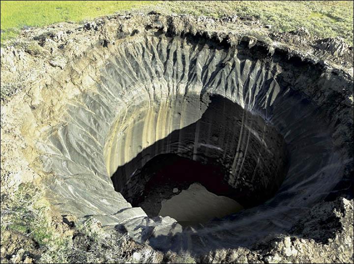 siberia siberian sinkhole russia craters siberia Mystery Hole