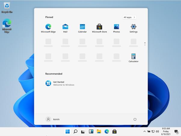 Windows 11 Home screen theunblog